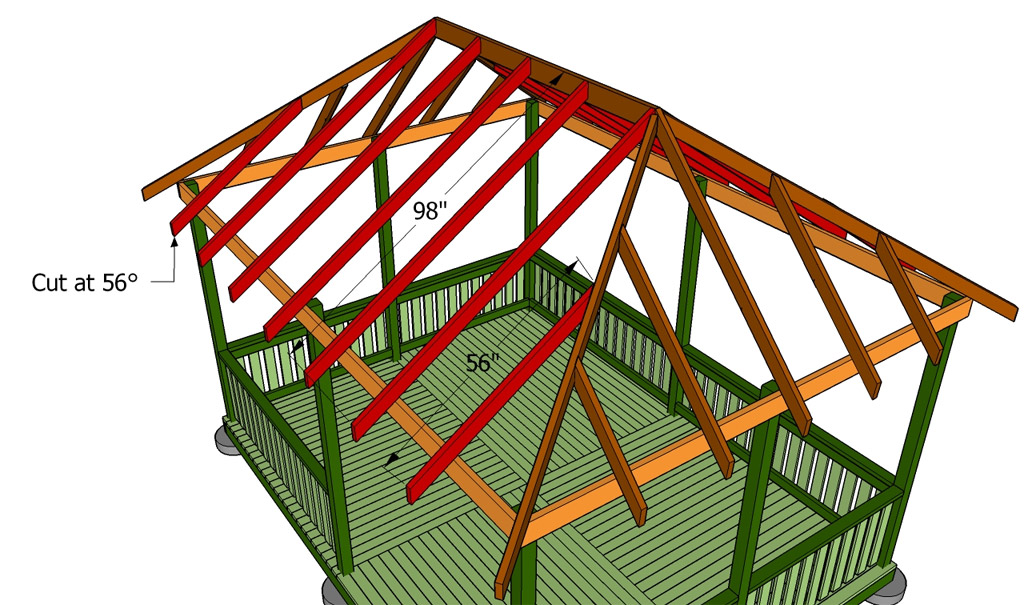 Четырехскатная крыша для беседки своими руками фото 58