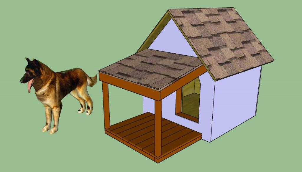 Как сделать собачью будку своими руками поэтапно