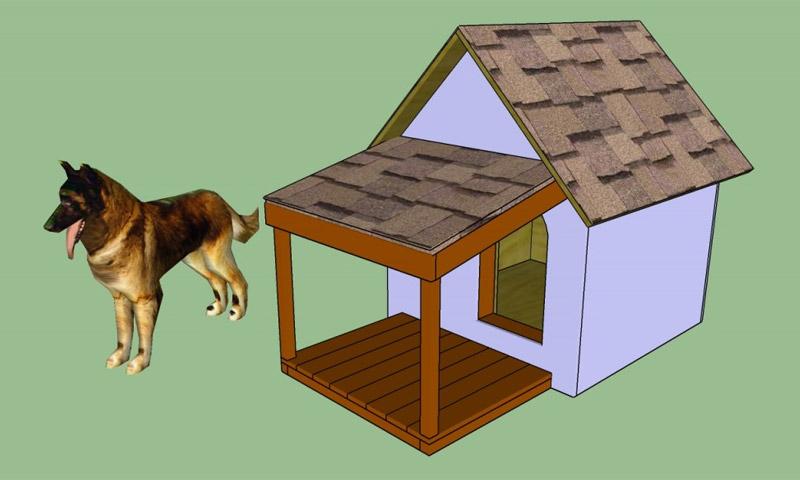 как сделать будку для собаки инструкция