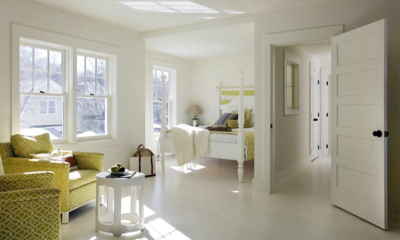 Белый цвет в интерьере помещений