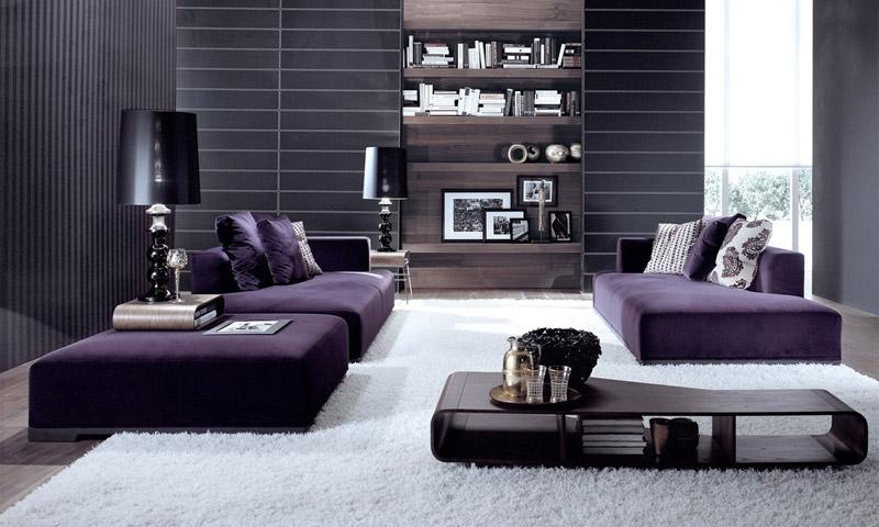 Использование фиолетового цвета в интерьере и его сочетание
