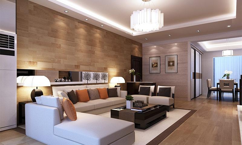 Ламинат на стене в интерьере - правила укладки, и способы декорирования