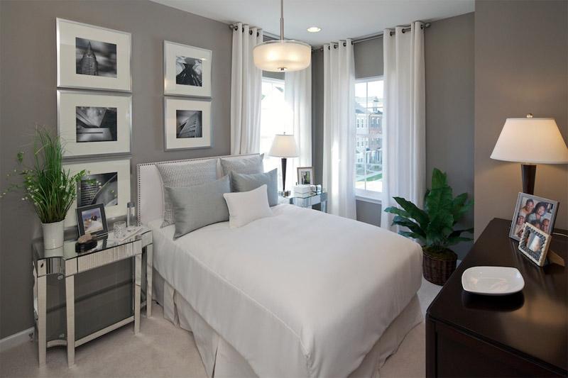 Сказочная спальня в серых тонах