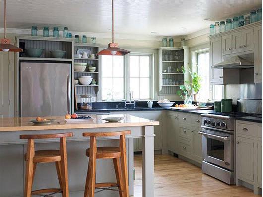 Зеленая столешница в интерьере на кухне Подоконники из искусственного камня Красная Гора