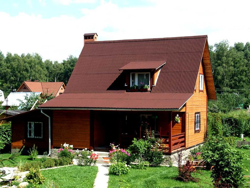 Крыша своими руками ондулин фото