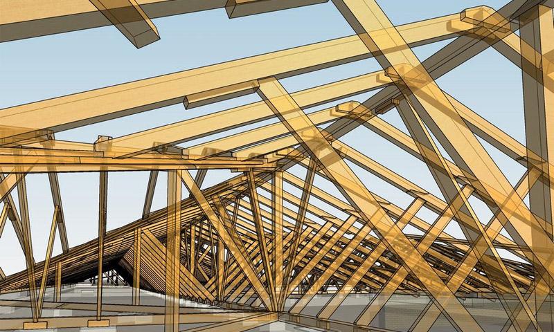 системы двухскатной крыши