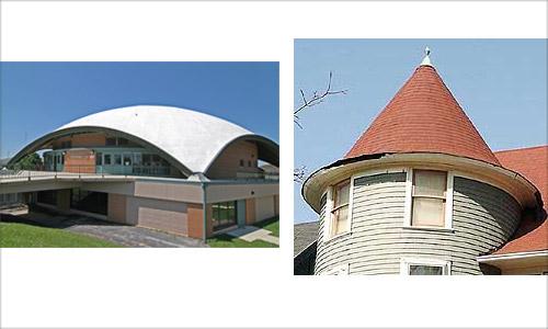 Купольные и коническая крыши