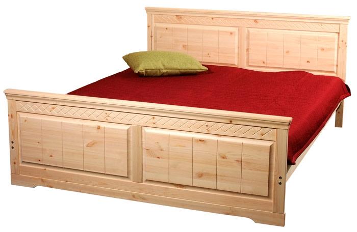 Каркас кровати из массива древесины