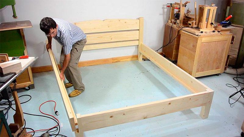 Как делать кровать своими руками 11