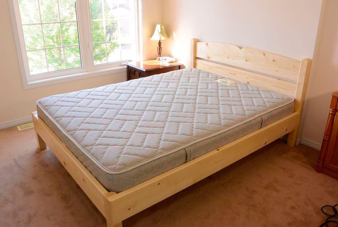 Кровать двуспальная сделать своими руками фото