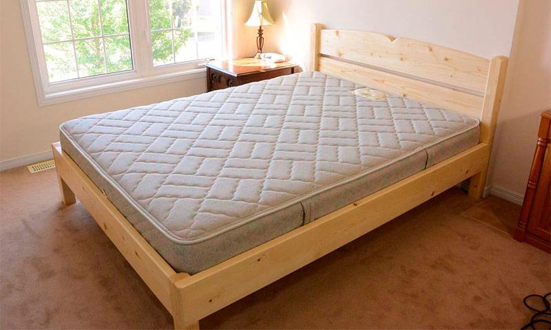 Как сделать кровать из досок фото