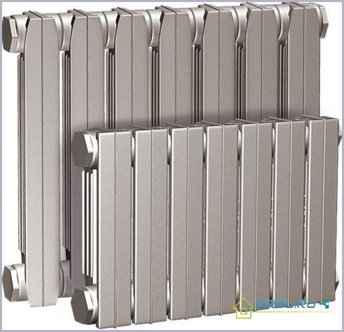 Размер чугунной батареи