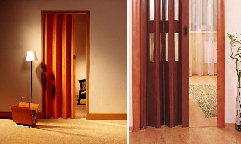 Дверь-гармошка в ванную комнату и туалет - Осинка