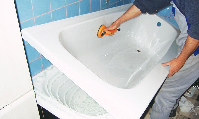 Акриловая ванна ремонт своими руками фото