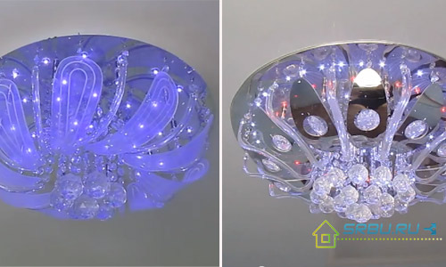 Галогенная люстра с пультом