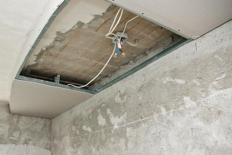 Размещение электропроводки внутри конструкции