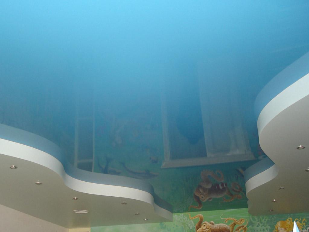 Натяжные потолки фото для детской