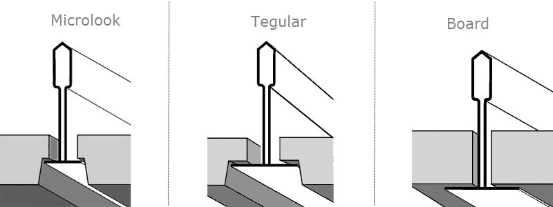 Виды кромок плит для подвесных потолков