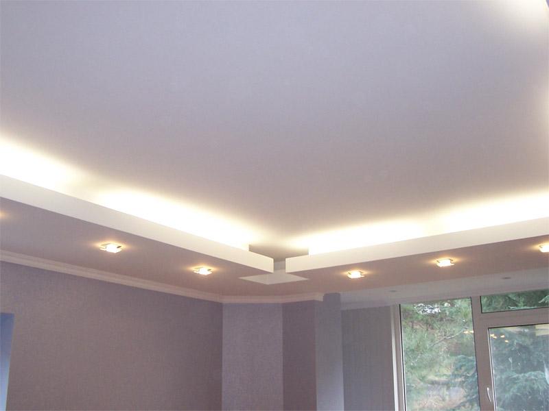 Потолок декоративный из гипсокартона своими руками