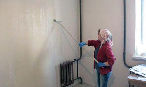 Подготовка поверхности стены