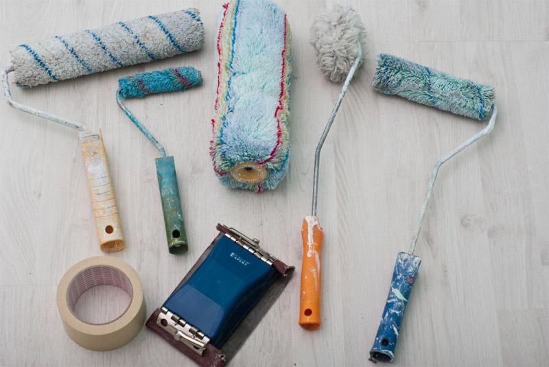 Инструменты необходимые для покраски