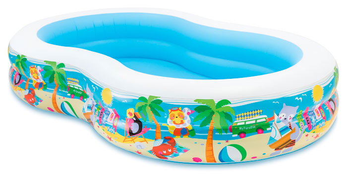 Детский бассейн Intex Swim Center 56490 Paradise Lagoon