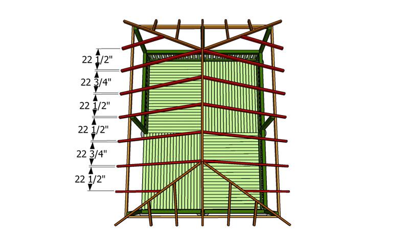 Схема установки стропил