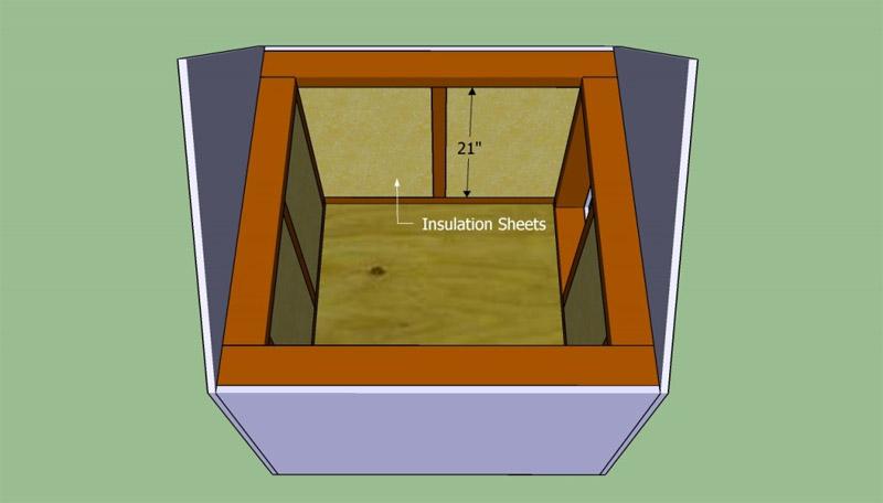 Крепление изоляционного материала