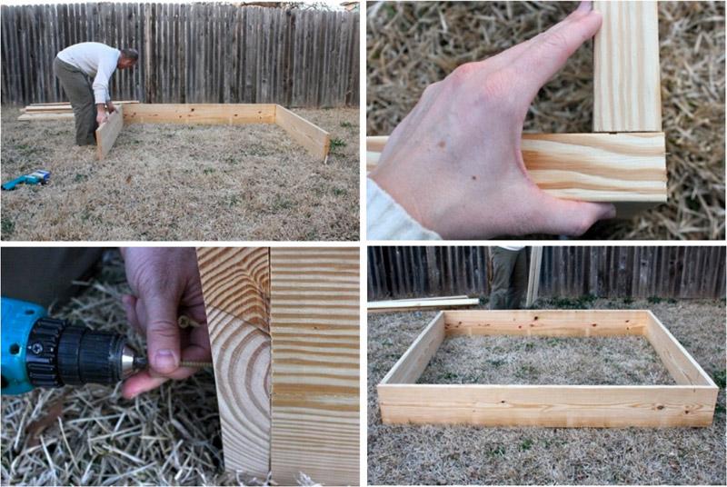 Изготовление каркаса песочницы