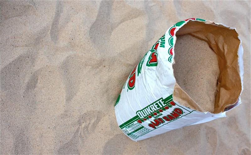 Засыпаем песок