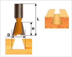 Пазовая конструкционная фреза ласточкин хвост