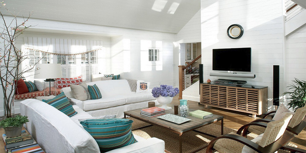 Eclectic Style Living Room Paint