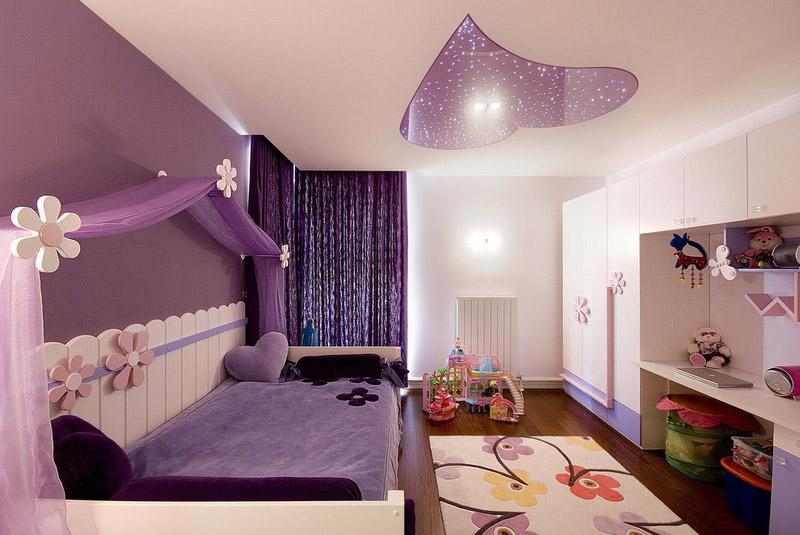 Фиолетовый цвет в интерьере и его сочетание с другими цветами фото примеры