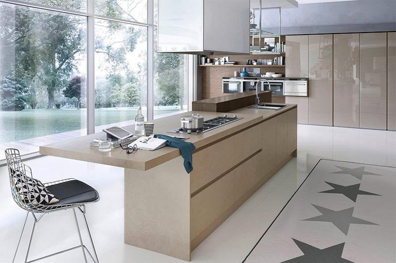 Островной стол на кухне