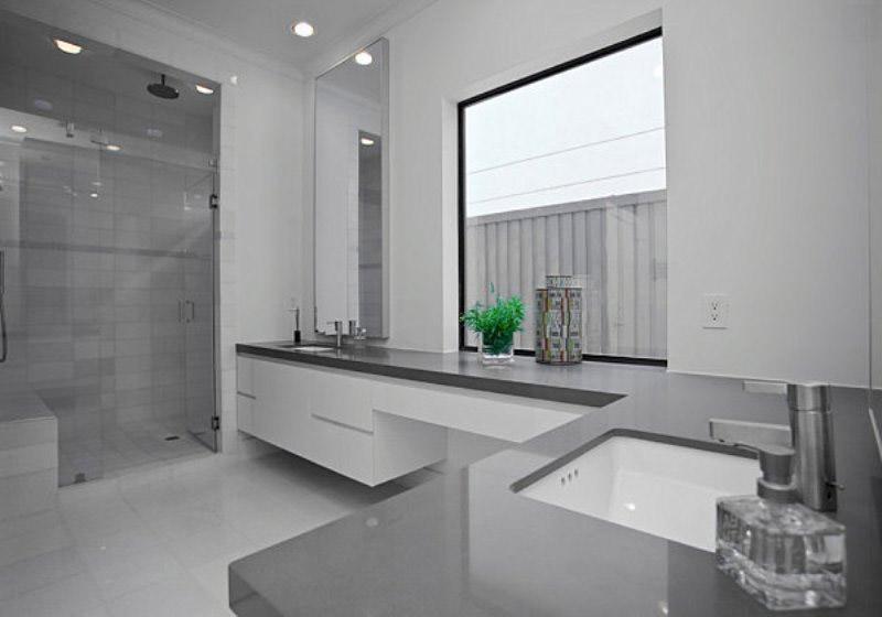 Дизайн ванной в сером цвете: особенности оформления, фото 81