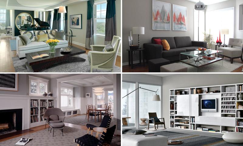 Сочетание и использование серого цвета в интерьере