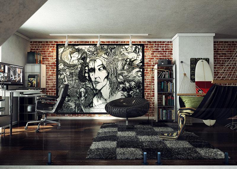 Дизайн интерьера в стиле лофт - секреты создания и 39 фото идей