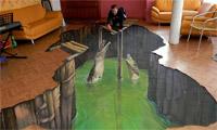 3D пол аллигаторы