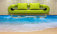 3D пол диванчик у моря
