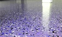 Заливной пол с флоками фиолетового цвета
