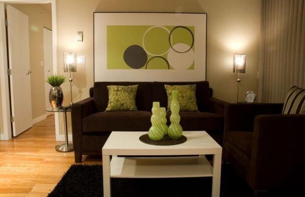 Зеленый цвет в интерьере, его сочетание и 52 примера использования