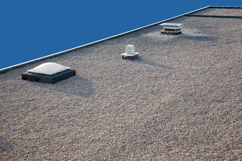 Пример инверсионной крыши. Устройство плоской кровли из рулонных или наплавляемых материалов. Строительная компания КРОСТ город Красноярск