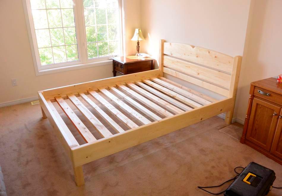 Как сделать кровать своими руками из дерева - пошаговая 10