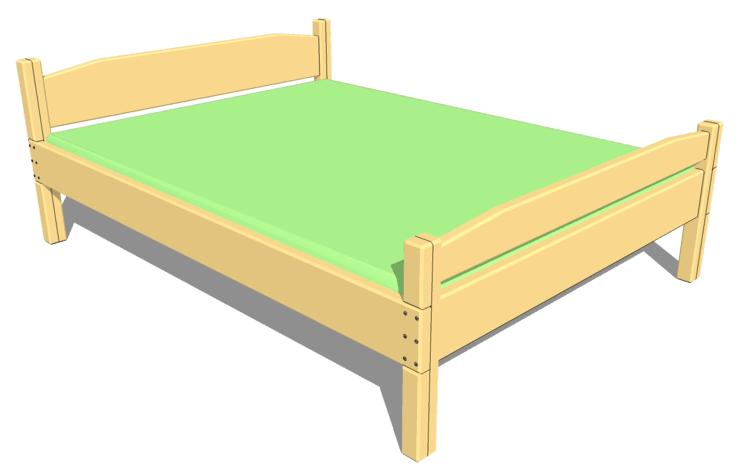 Как сделать кровать своими руками из дерева - пошаговая 73