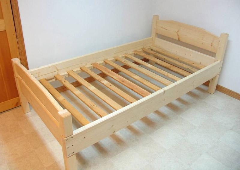 Собранная односпальная кровать
