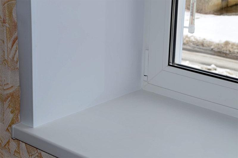 Монтаж откоса окна