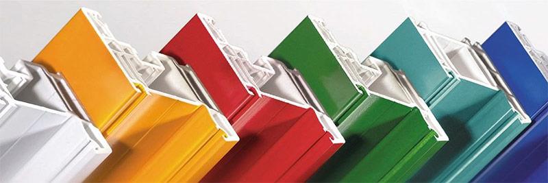 Цветные профили для пластиковых окон