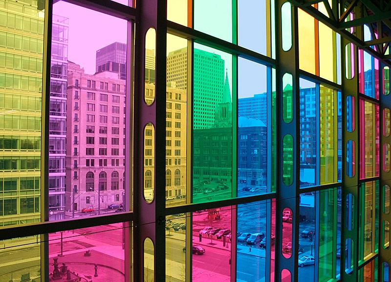 Цветные стеклопакеты