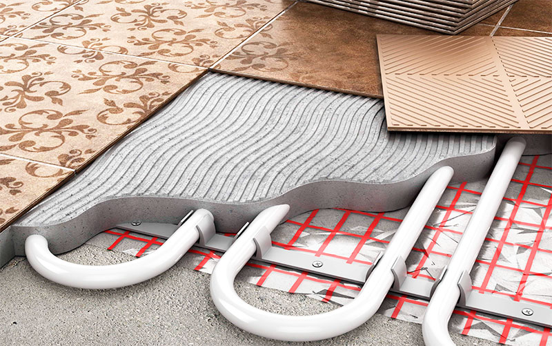 Использование керамической плитки для финишного покрытия теплого пола