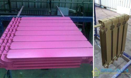 Цветные алюминиевые радиаторы